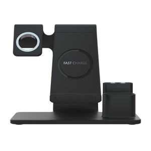 4 in 1 Qi Fast Wireless  Charger Dock Stand - Linden & Burk