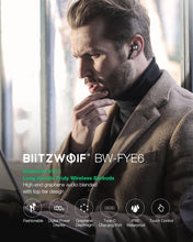 Load image into Gallery viewer, BlitzWolf FYE6 Long Handle bluetooth 5.0 TWS True Wireless Earphone Graphene Digital Display Bilateral Call Headphones Headset - Linden & Burk