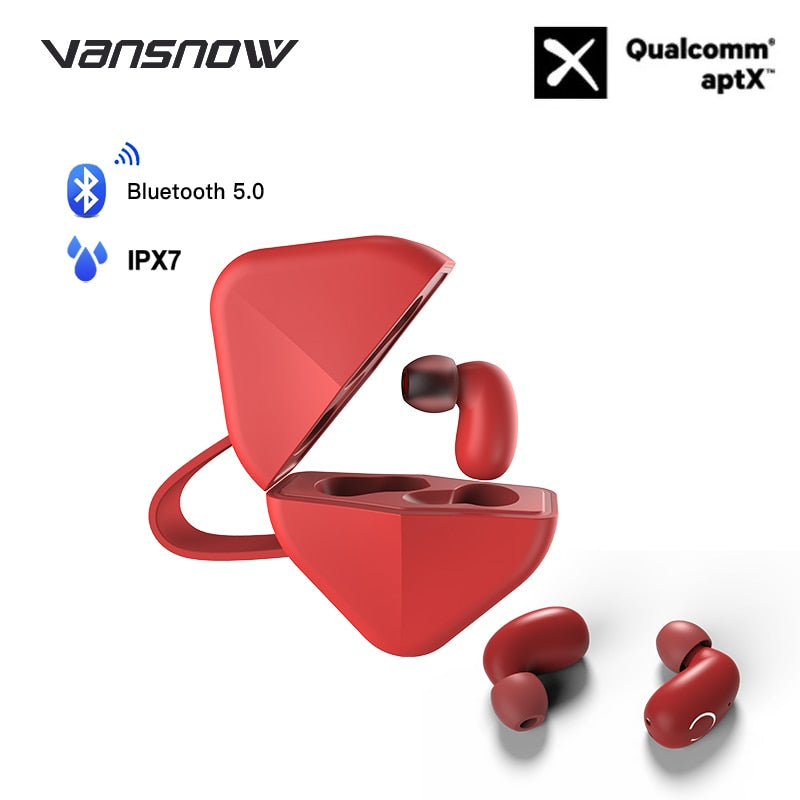 Wireless Earphones B6 IPX7 Waterproof TWS Earphone Wireless Earbud Bluetooth 5.0 Support Aptx/AAC 45h Play Time for IOS/Android - Linden & Burk