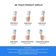 Load image into Gallery viewer, Wireless Earphones B6 IPX7 Waterproof TWS Earphone Wireless Earbud Bluetooth 5.0 Support Aptx/AAC 45h Play Time for IOS/Android - Linden & Burk