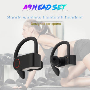 Bluetooth V5.0 Earphone Wireless A9 TWS Wireless Bluetooth Headphone Stereo Earbuds  Ear Hook Headset With Mic - Linden & Burk