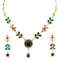 14Fashions Kundan Austrian Stone Gold Plated Necklace Set - 1100104