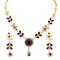 14Fashions Kundan Austrian Stone Gold Plated Necklace Set - 1100106