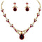 14Fashions Kundan Austrian Stone Gold Plated Necklace Set - 1100302