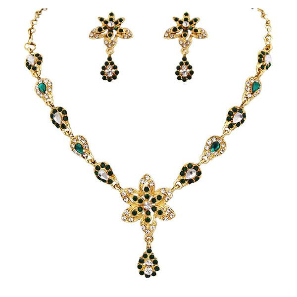 14Fashions Austrian Stone Gold Plated Necklace Set - 1100326