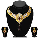 Soha fashion Maroon Austrian Stone Necklace Set