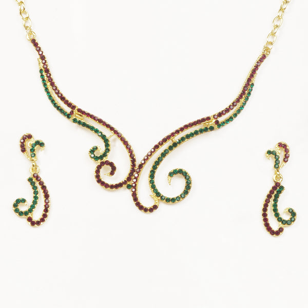 14Fashions Austrian Stone Gold Plated Necklace Set - 1101312