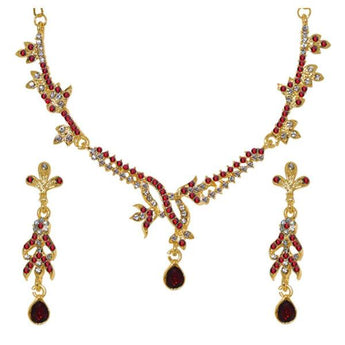 The99Jewel Austrian Stone Gold Plated Necklace Set - 1103950