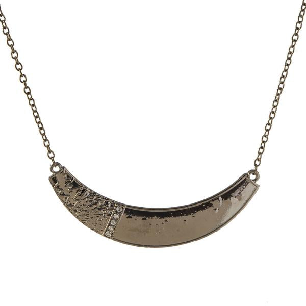 Jeweljunk Black Oxidised Necklace