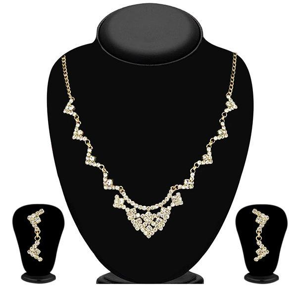 Eugenia Austrian Stone Gold Plated Necklace Set - 1104304