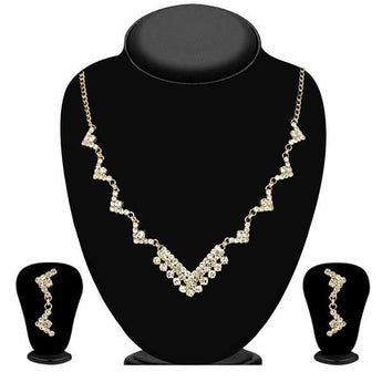 Eugenia Austrian Stone Gold Plated Necklace Set - 1104306