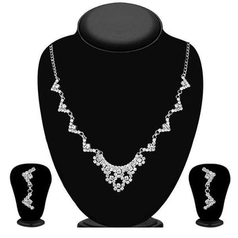 Eugenia Silver Plated Austrian Stone Necklace Set - 1104308