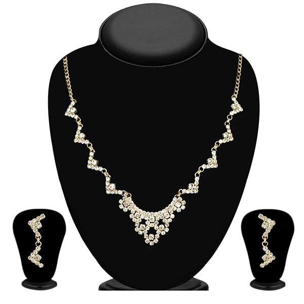 Eugenia Austrian Stone Gold Plated Necklace Set - 1104309