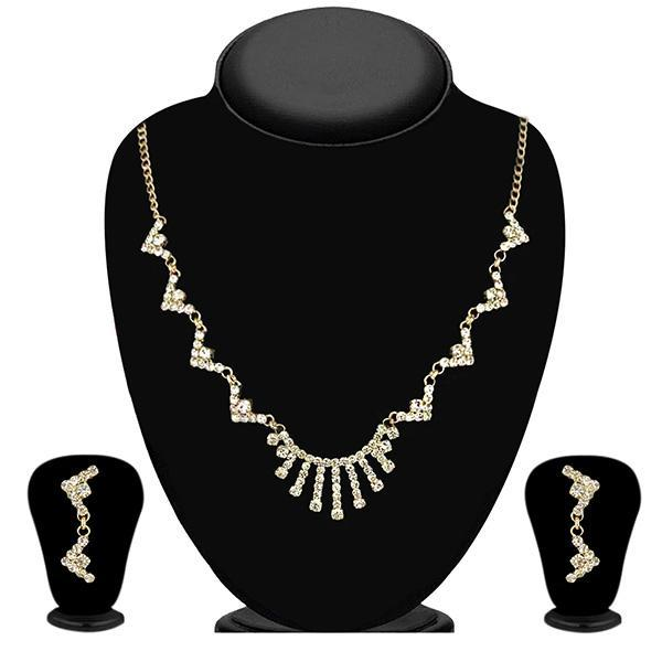 Eugenia Gold Plated Austrian Stone Necklace Set - 1104311