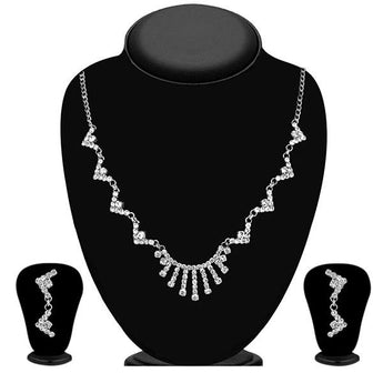 Eugenia Silver Plated Austrian Stone Necklace Set - 1104312