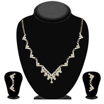 Eugenia Gold Plated Austrian Stone Necklace Set - 1104313