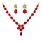 Kriaa Maroon Kundan Stone Gold Plated Necklace Set