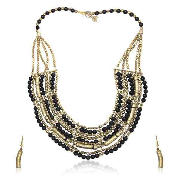 Beadside Gold Beads Necklace Set