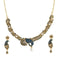 Kriaa Gold Plated Blue Austrian Stone Necklace Set