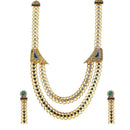 Soha Fashion Green Austrian Stone Gold Plated Traditional Set