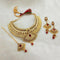 Kriaa Maroon Austrian Stone Choker Necklace Set With Maang Tikka -1107997B