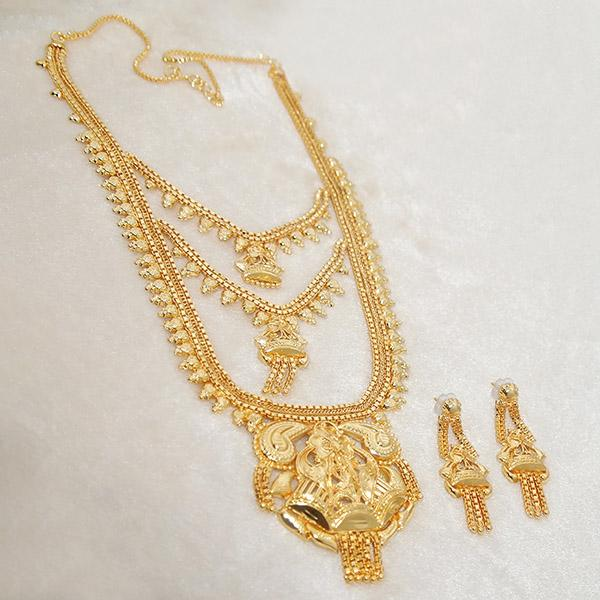 Kalyani Brass Forming Gold Plated Necklace Set - 1108122