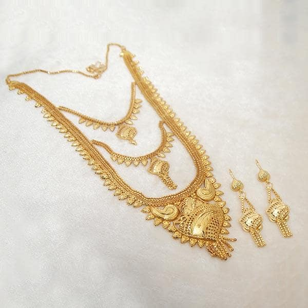 Kalyani Brass Forming Gold Plated Necklace Set - 1108124