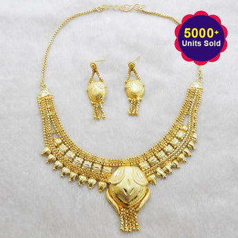 Kalyani Brass Forming Necklace Set - 1108130