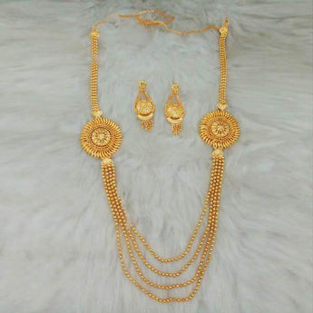 Kalyani Brass Forming Necklace Set - 1108166