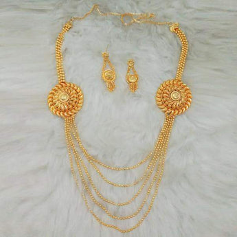 Kalyani Brass Forming Necklace Set - 1108167