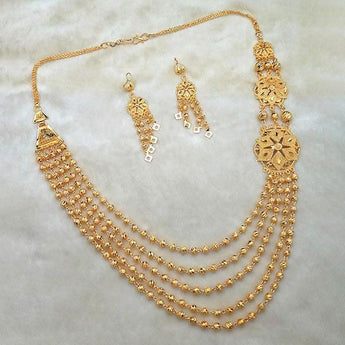 Kalyani Brass Forming Necklace Set - 1108186