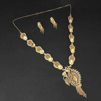Kalyani Brass Forming Gold Plated Necklace Set - 1108191