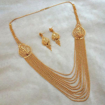 Kalyani Brass Forming Necklace Set - 1108199