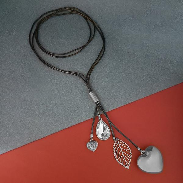 Urthn Stone Silver Plated Fusion Necklace
