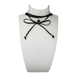 Jeweljunk Black Lace Choker Necklace - 1112308