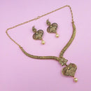 Kriaa Brown Austrian Stone Gold Plated Necklace Set -1113201A