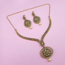 Kriaa Brown Austrian Stone Gold Plated Necklace Set -1113203A