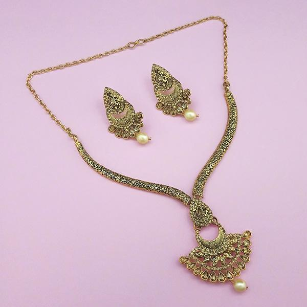 Kriaa Brown Austrian Stone Gold Plated Necklace Set -1113206A