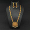 Kriaa Gold Plated Pota Stones Long Necklace Set