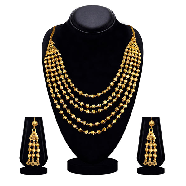 Kalyani Forming Gold plated Necklace set