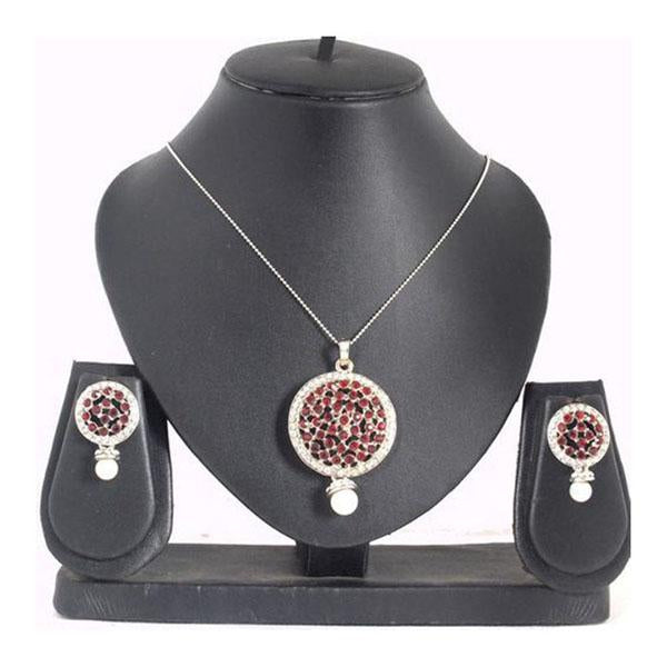 The99Jewel Silver Plated Austrian Stone Pendant Set - 1200408