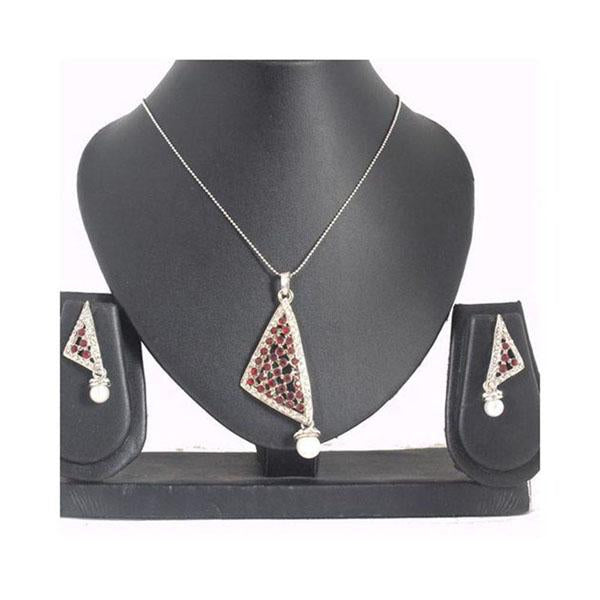 The99Jewel Austrian Stone Silver Plated Pendant Set - 1200418