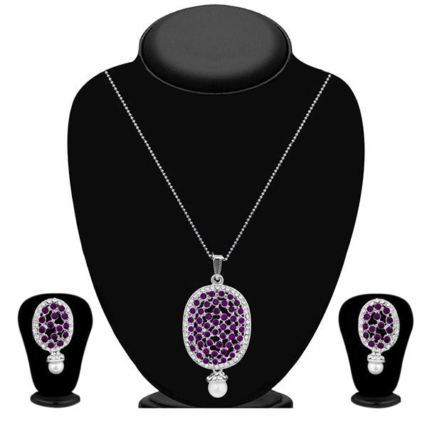 The99Jewel Silver Plated Austrian Stone Pendant Set - 1200422