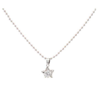 The99jewel  Austrian Stone  Silver Plated Star Shape Chain Pendant