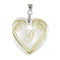 "Regina Alphabet G"" Heart Shaped Shell Pendant"