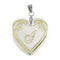 "Tip Top Fashions Alphabet J"" Heart Shaped Shell Pendant - 1201009"