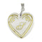 "Regina Alphabet S"" Heart Shaped Shell Pendant"