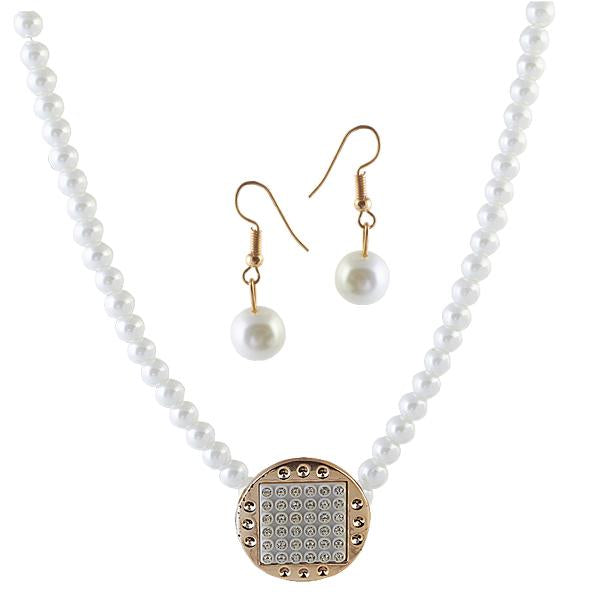 Urthn Pearl Antique Gold Plated Pendant Set