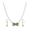 The99Jewel White Pearl Gold Plated Necklace Set