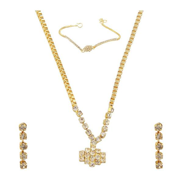 Eugenia Gold Plated Stone Necklaces Set with Bracelet